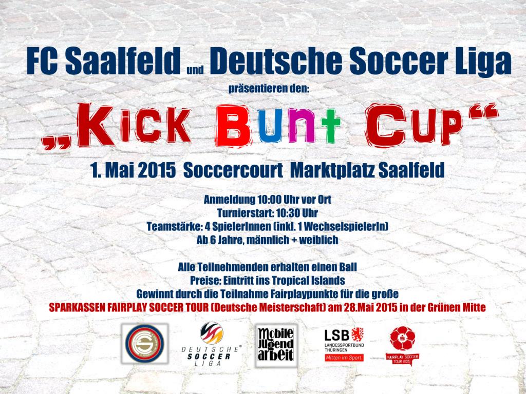 Kick bunt cup thüringen saalfeld landessprotbund deutsche soccerliga fair play mobile jugend arbeit