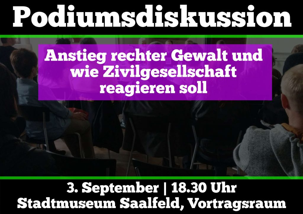 Flyer Podiumsdiskussion
