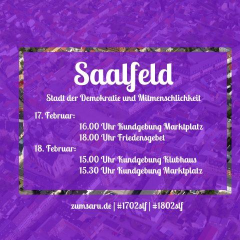 Saalfeld - Stadt der Demokratie und Mitmenschlichkeit